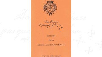 Bulletin de la Société Martinès de Pasqually – n° 23