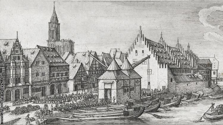 Ancienne Douane, quai Esprit, on peut y observer les grues qui font face à la rue où habitait Saint-Martin.