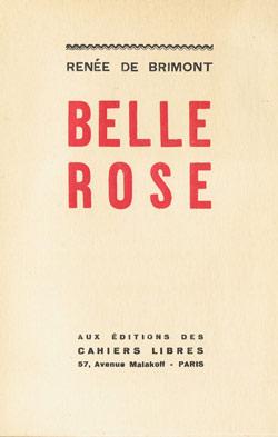 Belle Rose, édition originale, 1931