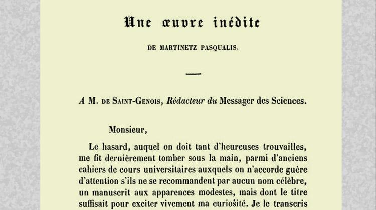 Une référence auTraité sur la réintégrationen 1851