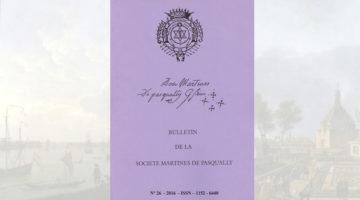 Bulletin de la Société Martinès de Pasqually – 26 – 2016