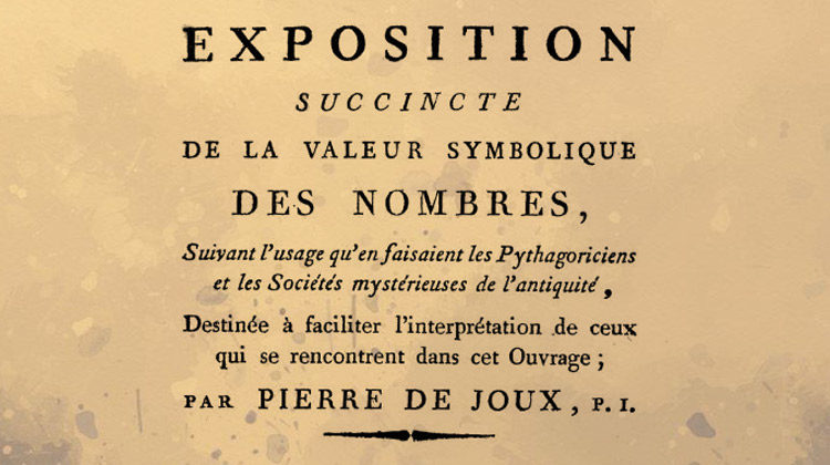 De quatre à neuf, la symbolique des nombres par Pierre de Joux