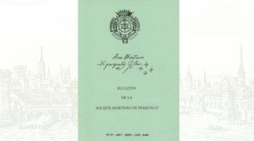 Bulletin de la Société Martinès de Pasqually – n° 27 – 2017