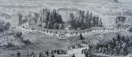 Le quartier de l'Elysée en 1872