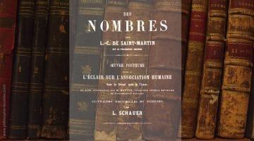 Les Nombres, Louis-Claude de Saint-Martin éd. Schauer et Chuquet 1862