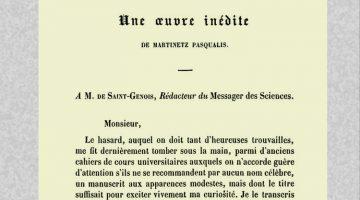 Une référence au<em>Traité sur la réintégration</em>en 1851