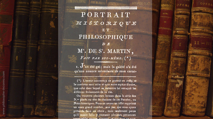 Mon portrait historique et philosophique