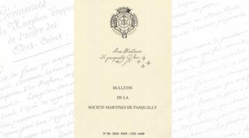 Bulletin de la Société Martinès de Pasqually – 28 – 2018