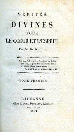 Vérités divines pour le coeur et l'esprit - Antoine Esmonin de Dampierre (1823)
