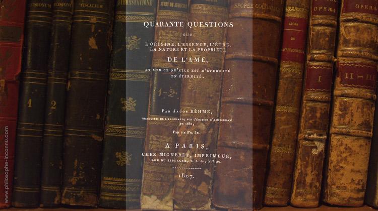 Quarante questions sur l'origine, l'essence, l'être, la nature et la propriété de l'âme, et sur ce qu'elle est d'éternité en éternité