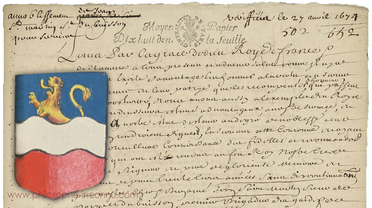 Les origines de la noblesse de Louis-Claude de Saint-Martin