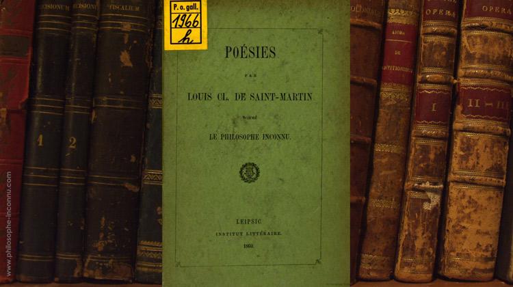 Poésies par Louis Cl. de Saint-Martin, nommé le Philosophe inconnu