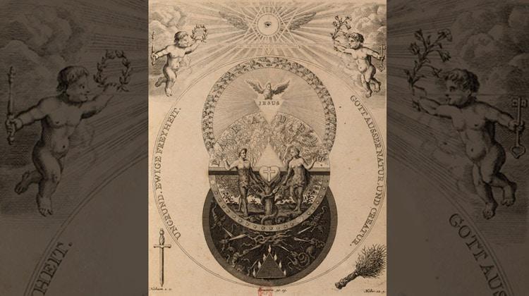 Erflaerung der Titul-Figur, sur une gravure théosophiquede Nicolas Tscheer
