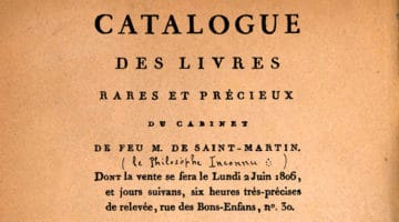 Catalogue des livres de la bibliothèque de Saint-Martin