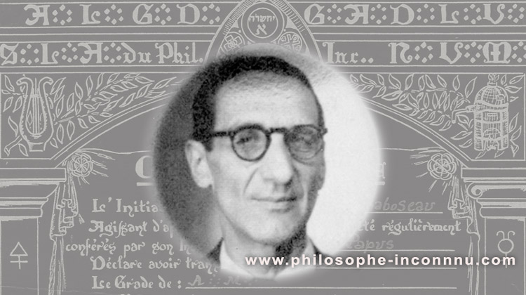 Jean Chaboseau et la mise en sommeil de l'Ordre Martiniste Traditionnel en septembre 1947