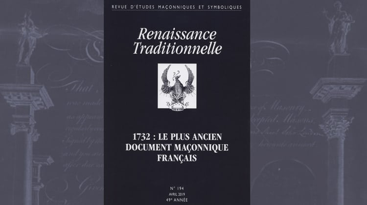 Renaissance Traditionnelle n° 194 avril 2019