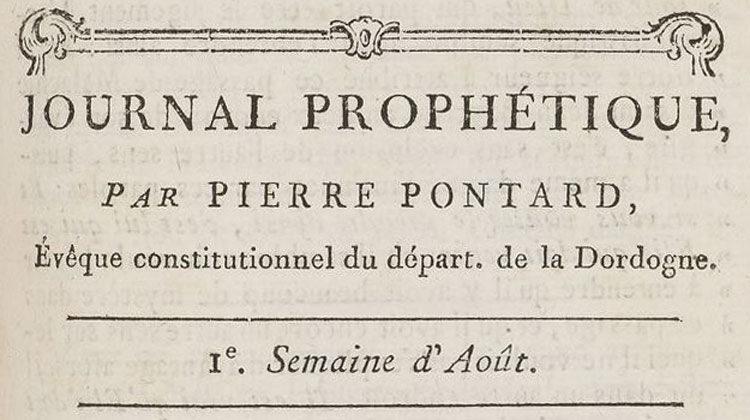La religion du cœur – Journal Prophétique de Pierre Pontard