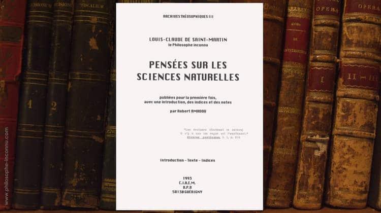 Pensées sur les sciences naturelles