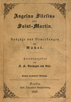 Angelus Silesius - Saint-Martin édition de 1849