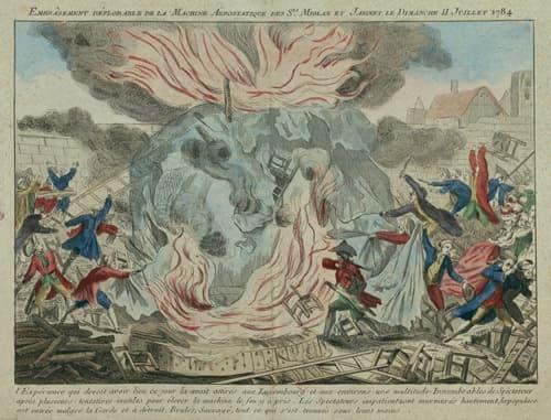 Montgolfière, incendiée