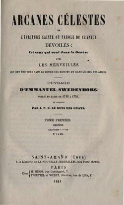 Emmanuel Swedenborg, les Arcanes Célestes